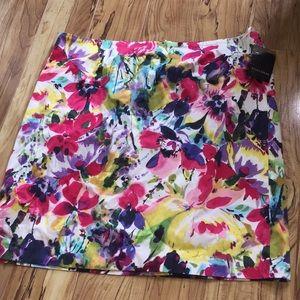 Jones Wear stretch skirt size 18 women pansy print